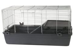 Cage two doors for small animals - Dark Grey