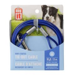 Small image for Dogit Tie-Out Cable - Blue - Medium - 3 m (10 ft)