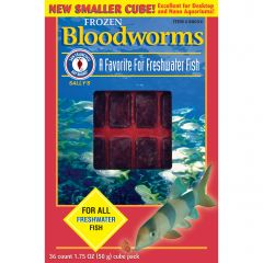 Small image for San Francisco Bay Bloodworms Cube, 1.75 oz (50 g)