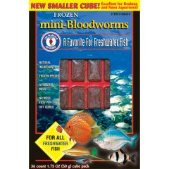 Small image for San Francisco Bay Mini Bloodworms Cube, 1.75oz (50 g)