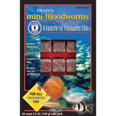 Small image for San Francisco Bay Mini Bloodworms Cube, 3.5oz (100 g)