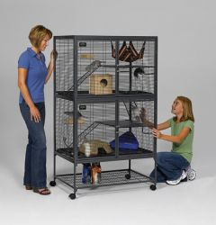 Midwest 162 Critter Nation - Deluxe 2 Cages Small Animal Habitat