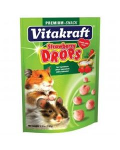 Petite image pour Vitakraft / Hamster Strawberry Drops 5.3 oz. (pouch)