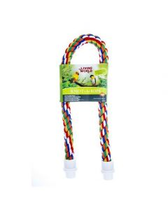 Petite image pour Perchoir Knot-A-Rope Living World en coton, multicolore, diam. 30 mm, long. 90 cm
